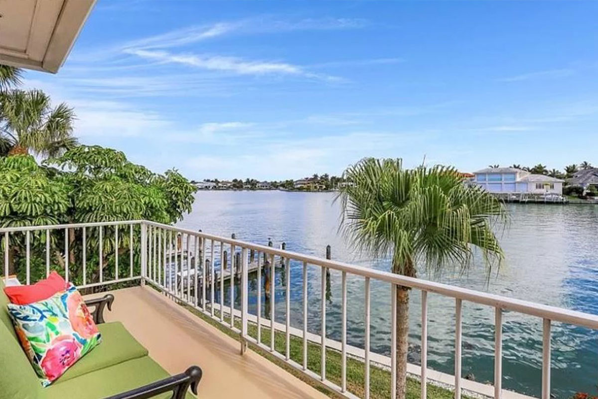 3070 Gulf Shore Blvd N #211 balcony | Home Staging Services Southwest Florida