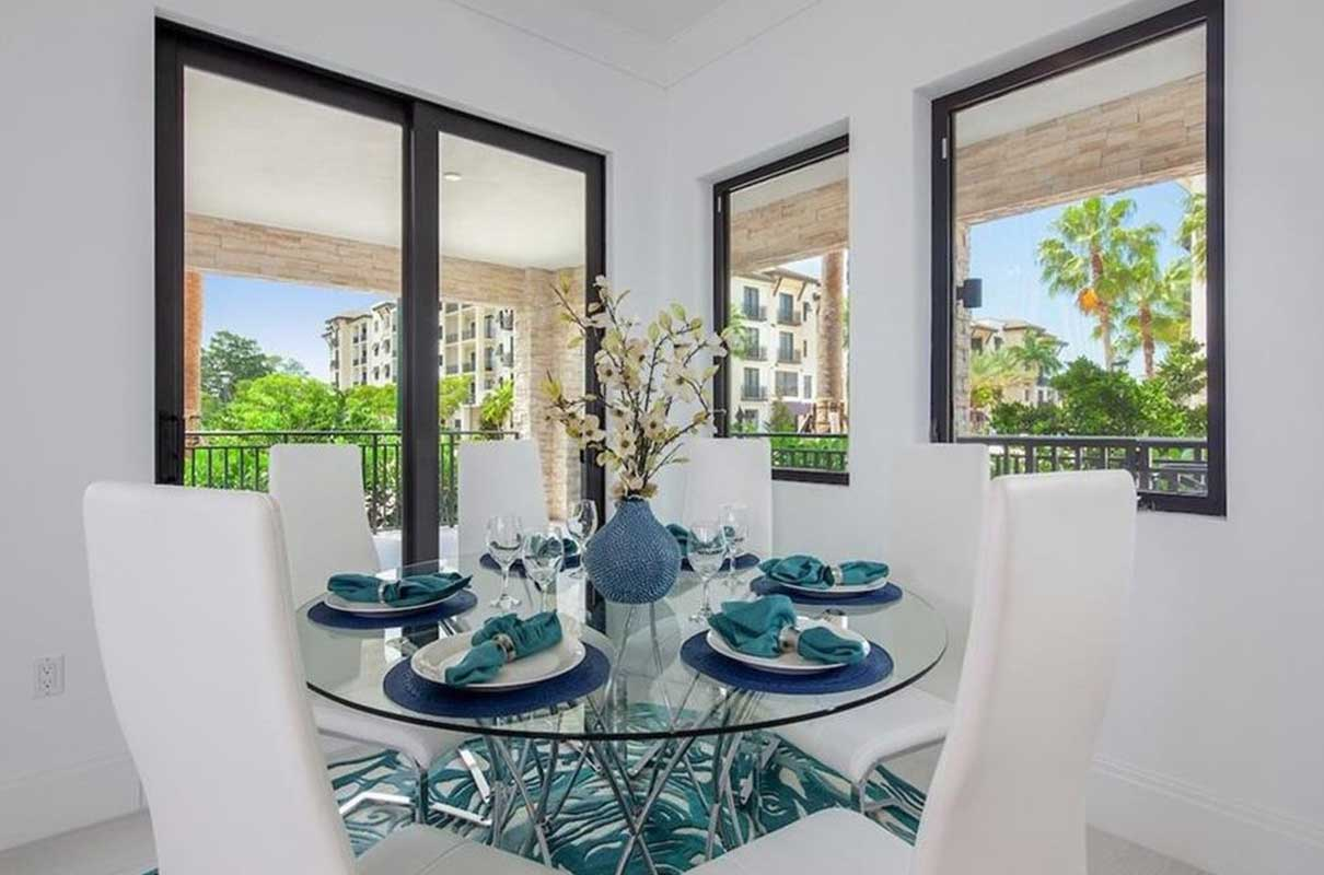 3rd Ave S dining room staged by Naples Home Staging | Home Staging Services Southwest Florida Vacant Home Staging and Furnished Home Staging