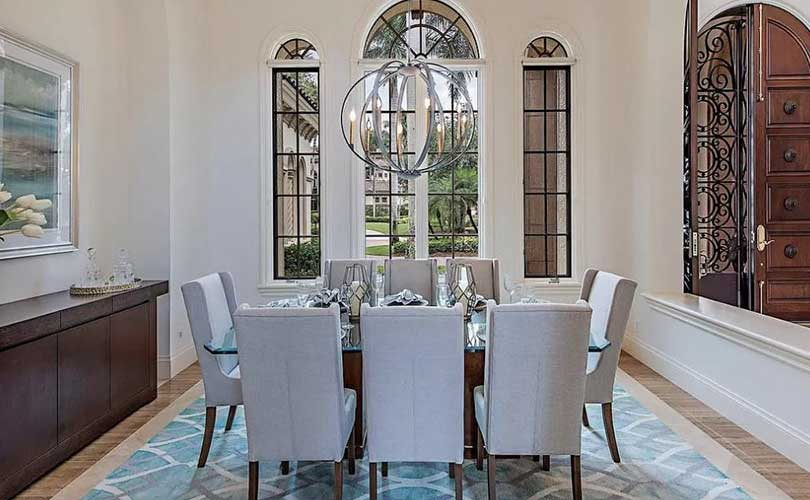 Bay Colony Dining Room Furnished Home Staging | Home Staging Services Naples Home Staging Before & Afters