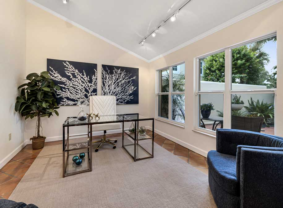 Greenflower Court office after home staging | Naples Home Staging Home Staging Services Southwest Florida Vacant Home Staging and Furnished Home Staging