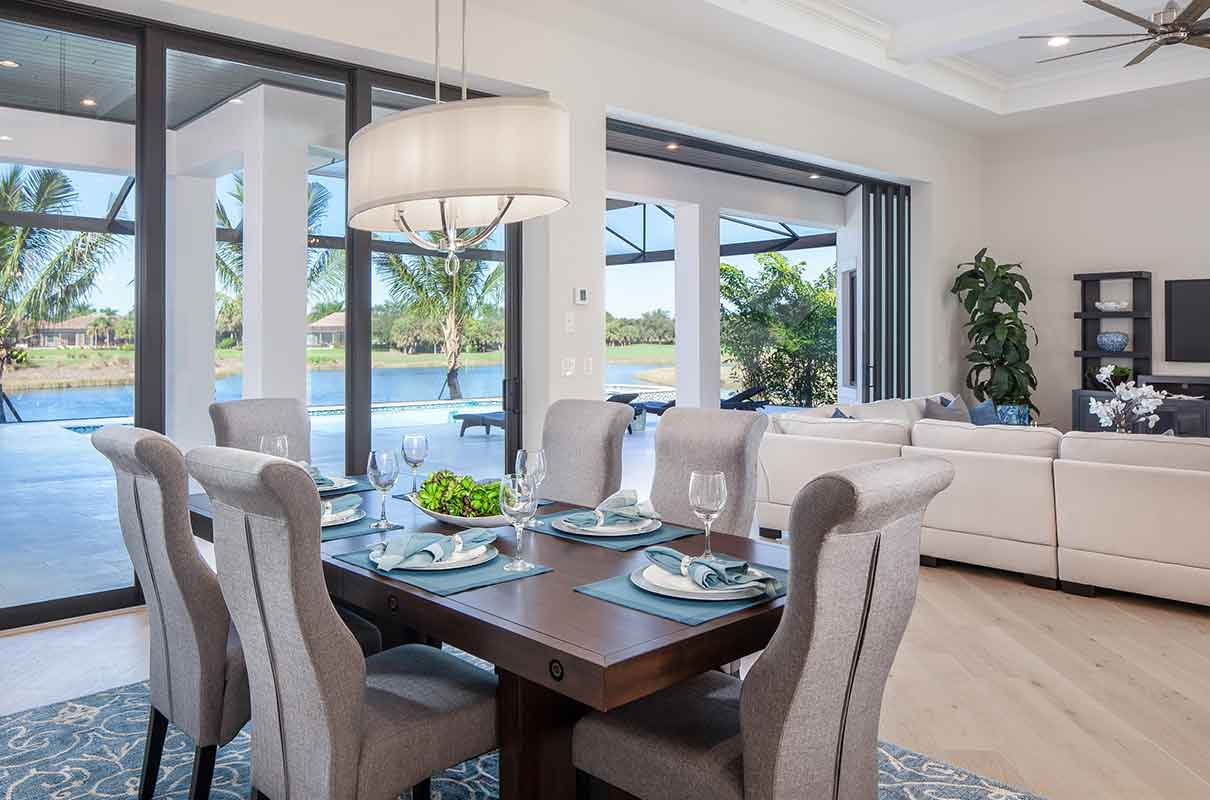 Knoll Landing dining room staged by Naples Home Staging | Home Staging Services Southwest Florida