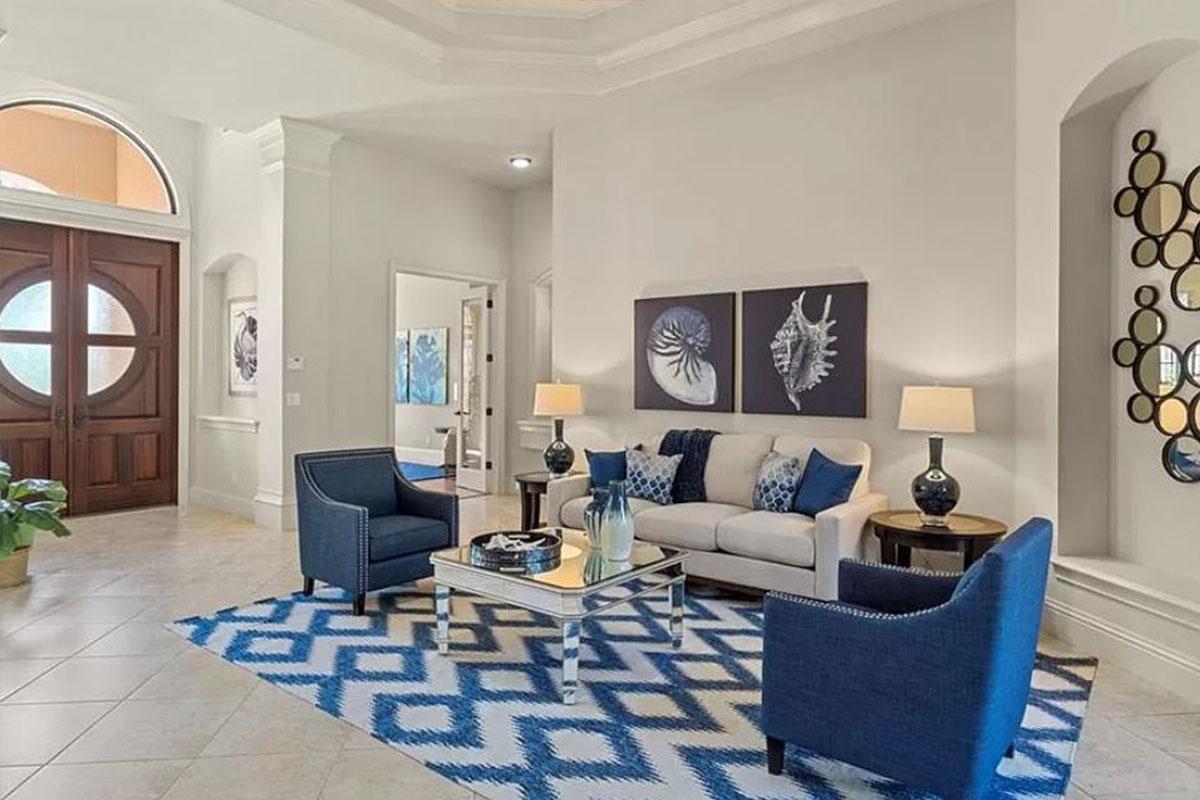 Leonardo Avenue living room | Home Staging Services Southwest Florida