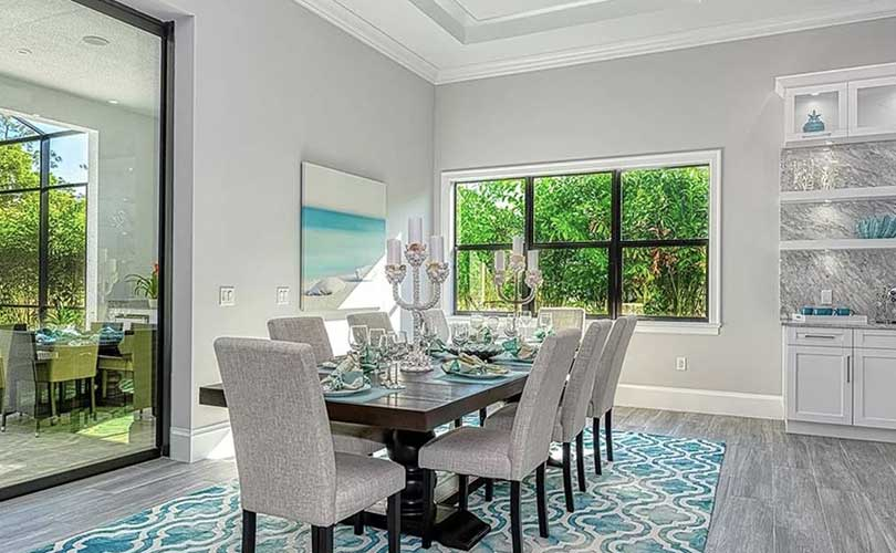 Living Woods Lane Dining Room Vacant Home Staging | Home Staging Services Naples Home Staging Before & Afters