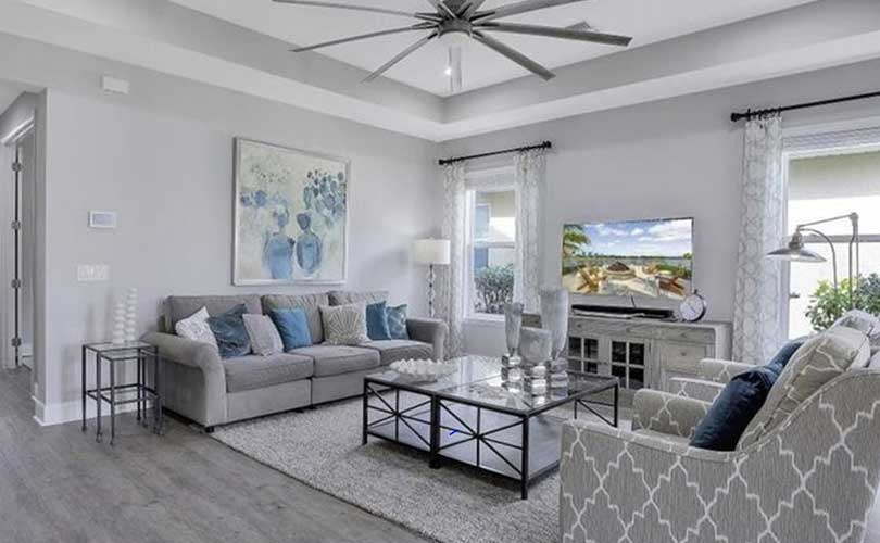 Naples Reserve Living Room Furnished Home Staging | Home Staging Services Naples Home Staging Before & Afters