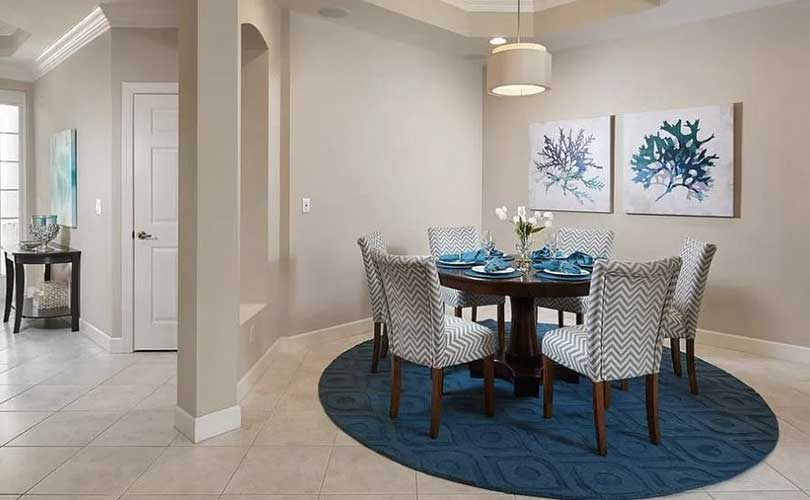 Nesting Court Dining Room Vacant Home Staging | Home Staging Services Naples Home Staging Before & Afters