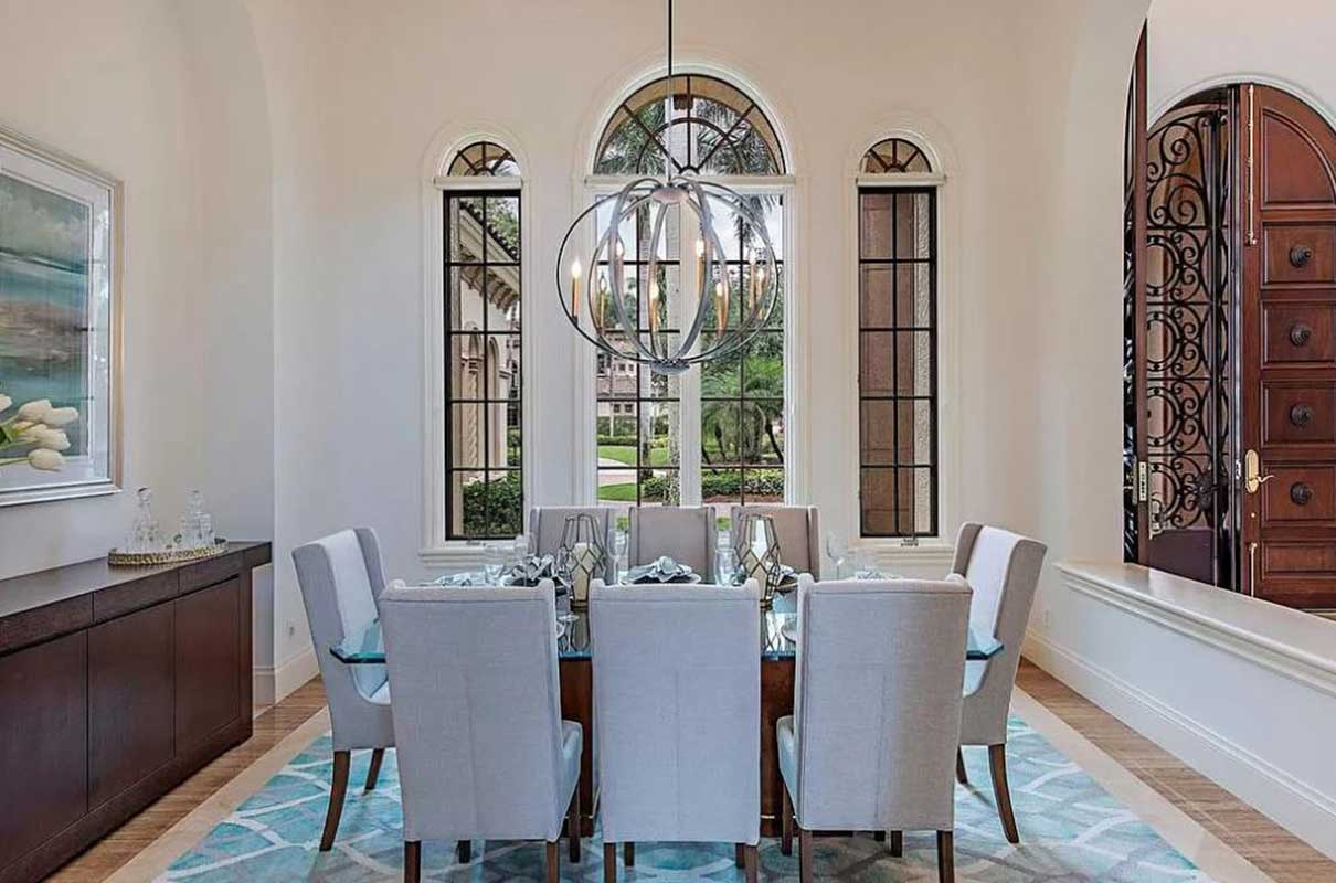 Niblick Lane dining room staged by Naples Home Staging | Home Staging Services Southwest Florida