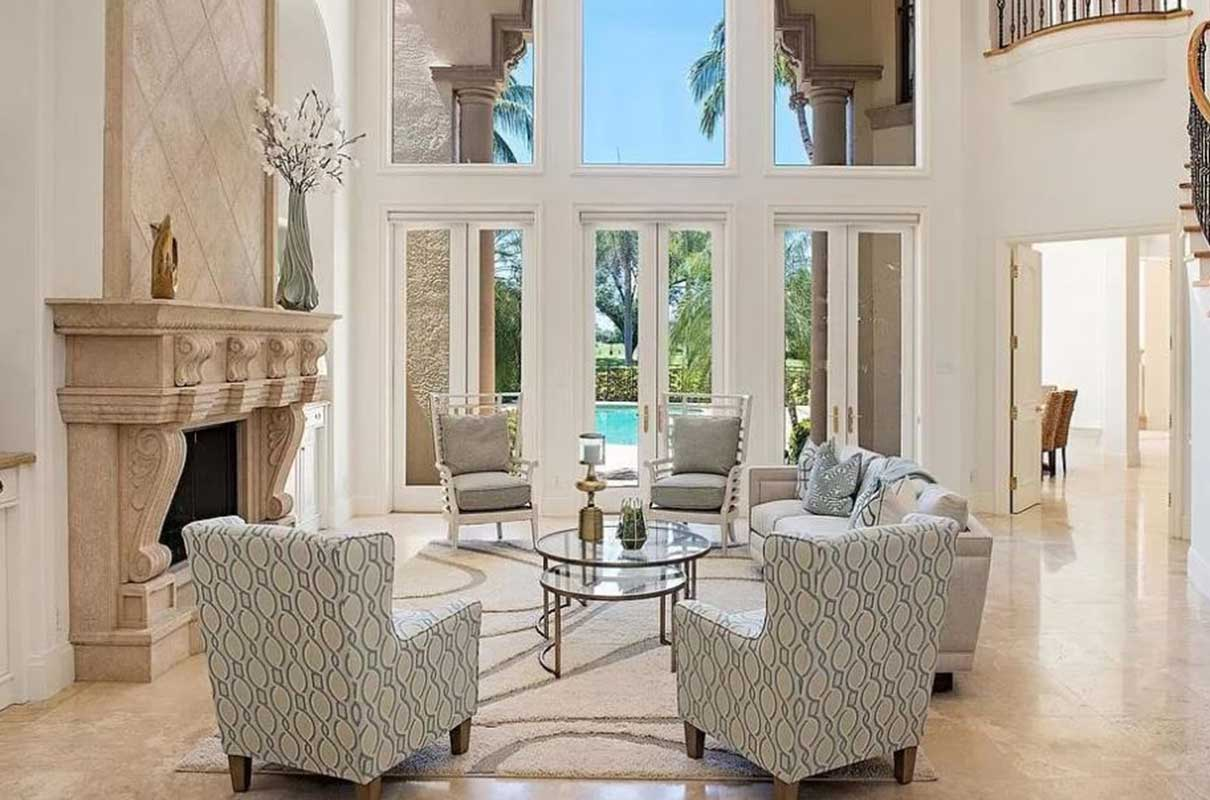 Niblick Lane living room staged by Naples Home Staging | Home Staging Services Southwest Florida