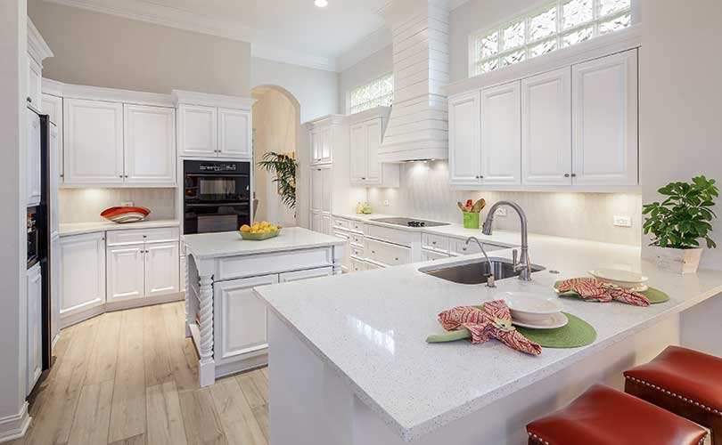 Pelican Marsh Kitchen Furnished Home Staging | Home Staging Services Naples Home Staging Before & Afters