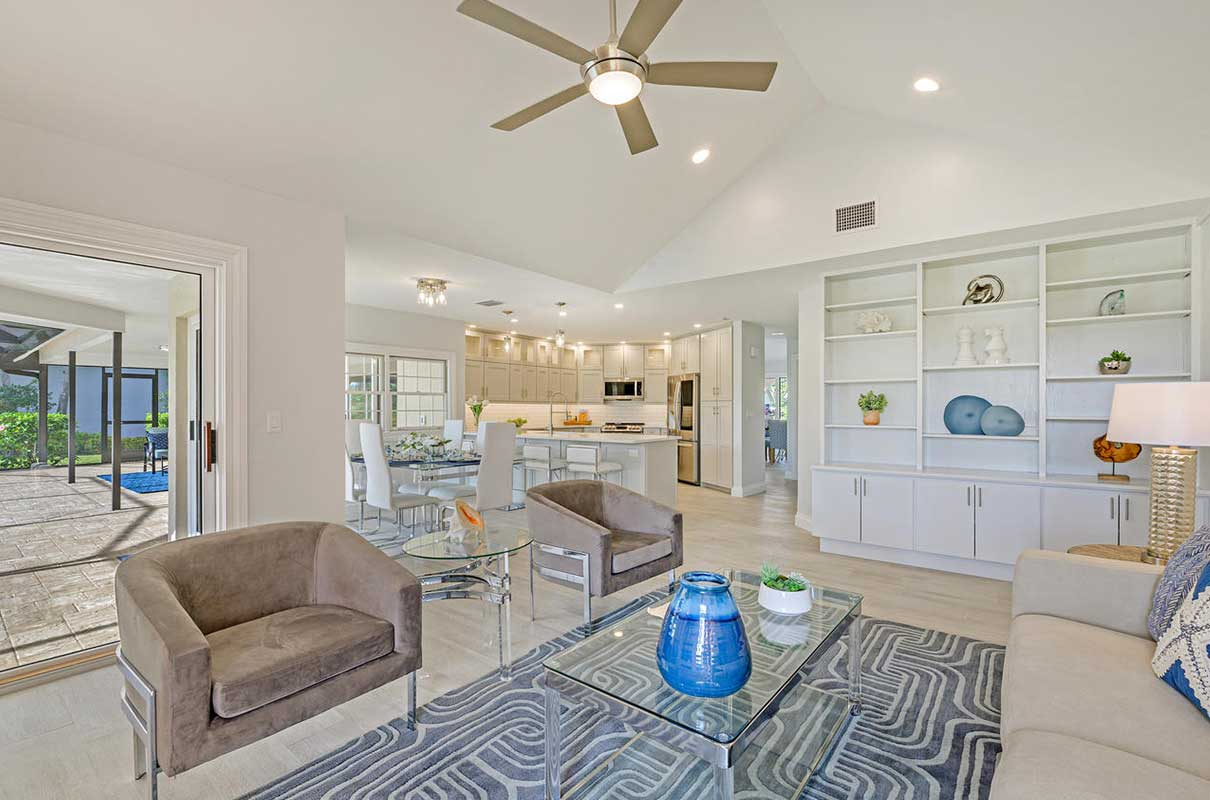 Prince family room staged by Naples Home Staging | Home Staging Services Southwest Florida