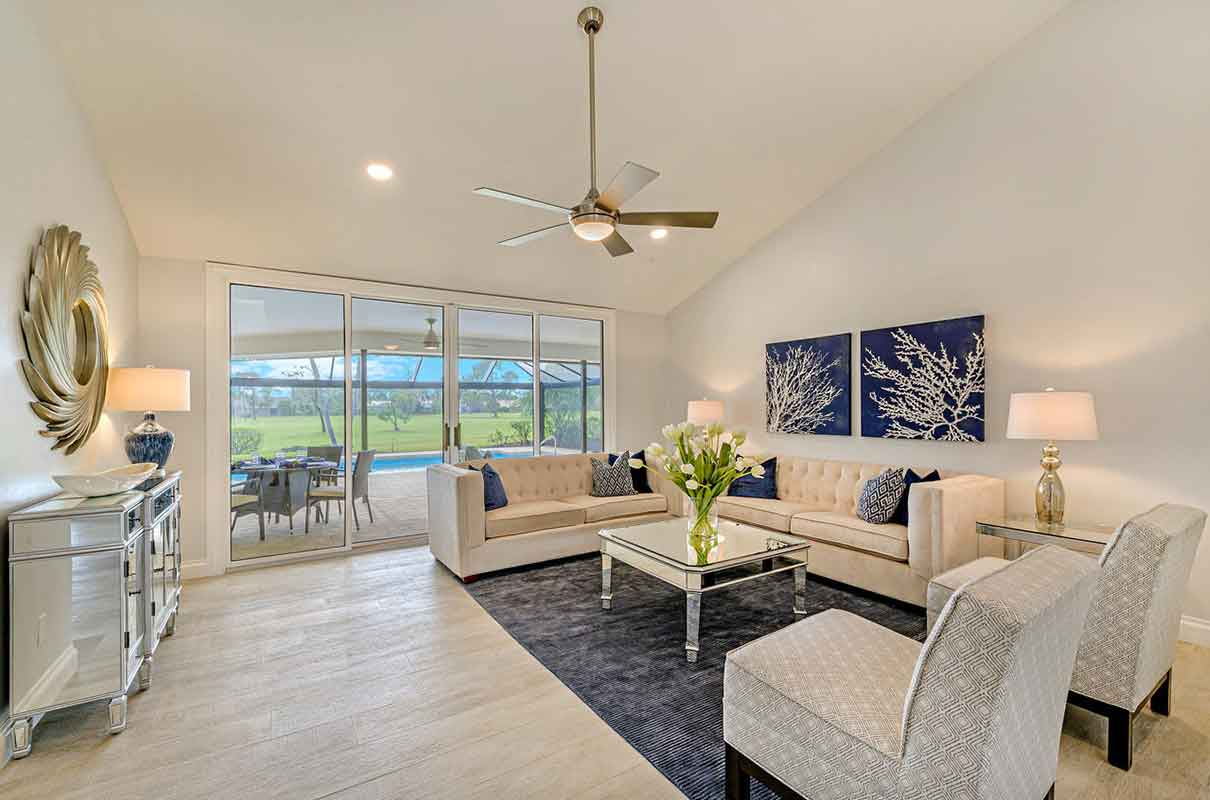Prince living room staged by Naples Home Staging | Home Staging Services Southwest Florida