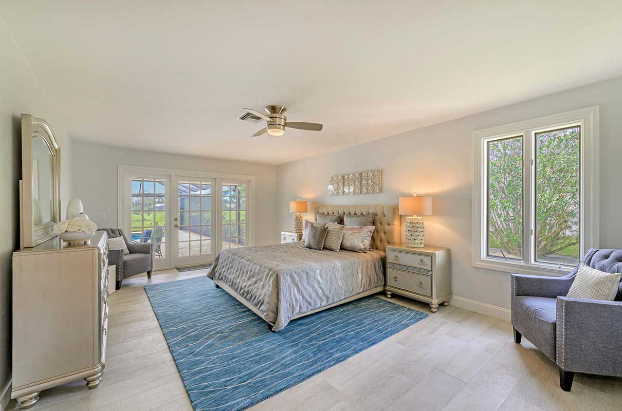 Prince master bedroom staged by Naples Home Staging | Home Staging Services Southwest Florida