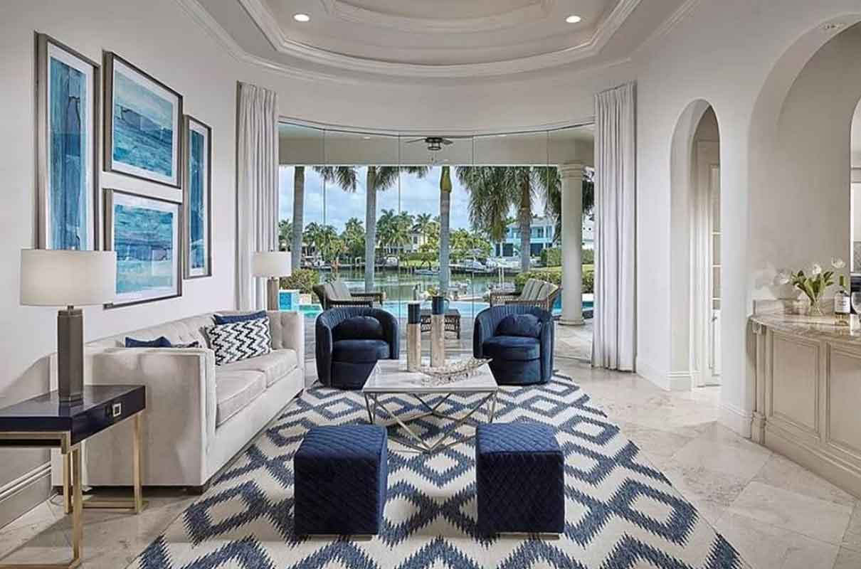 Springline Drive living room staged by Naples Home Staging | Home Staging Services Southwest Florida
