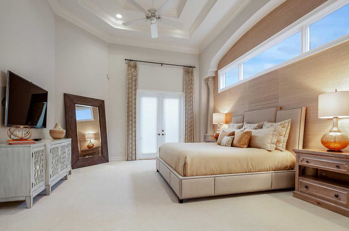 Terranova master bedroom staged by Naples Home Staging | Home Staging Services Southwest Florida