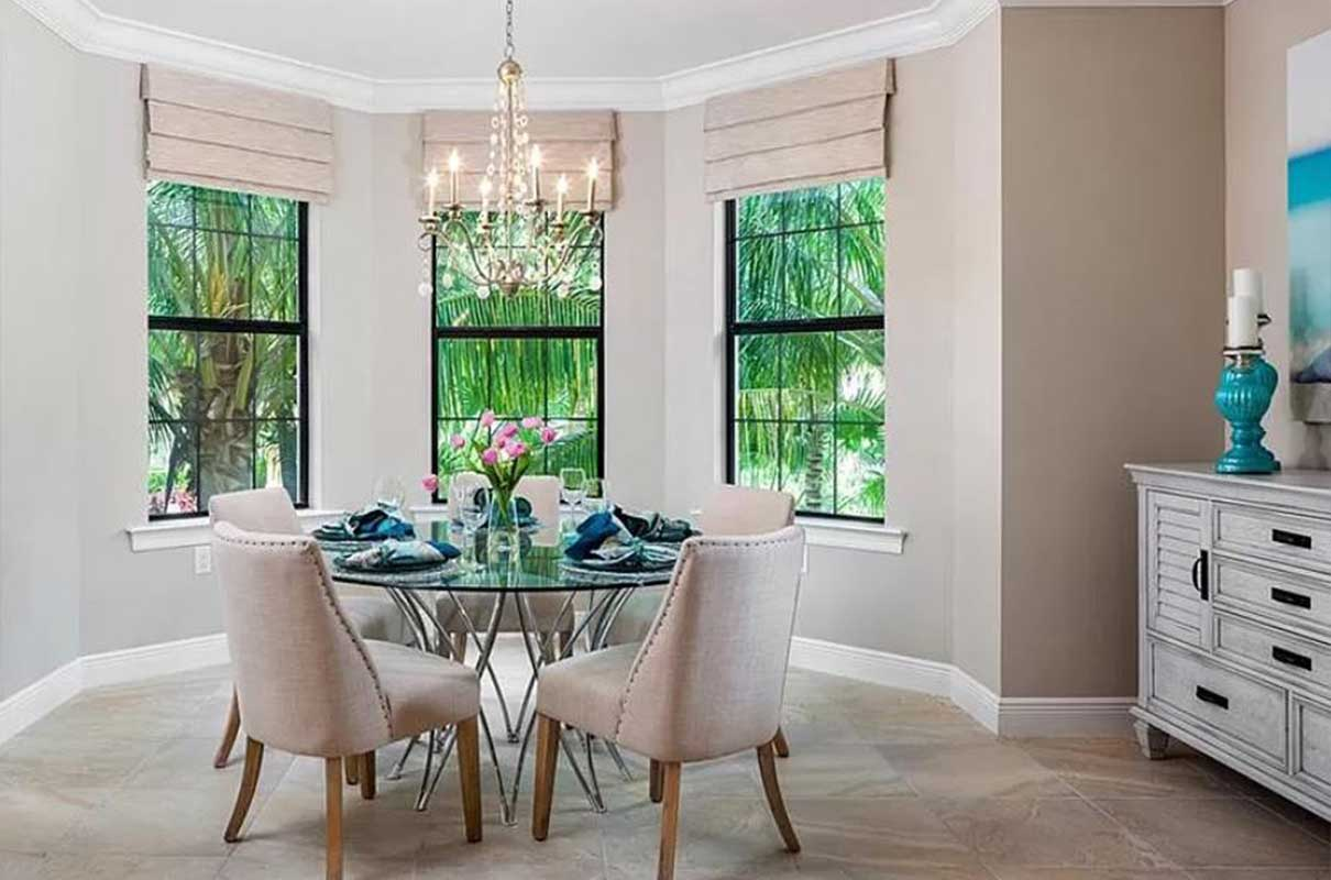 Tiburon dining room staged by Naples Home Staging | Home Staging Services Southwest Florida