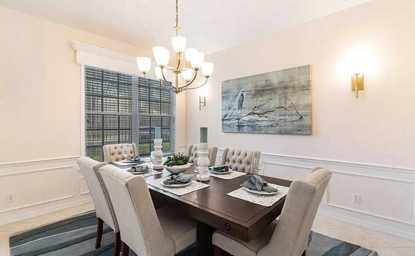 Timmaron Dining Room Vacant Home Staging | Home Staging Services Naples Home Staging Before & Afters