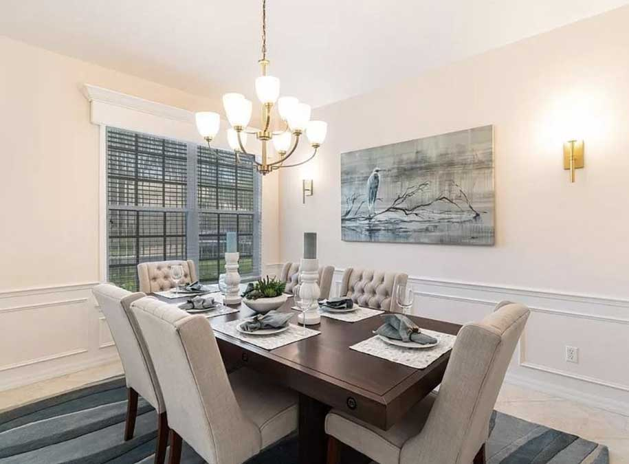 Timmaron dining room after home staging | Naples Home Staging Home Staging Services Southwest Florida Vacant Home Staging and Furnished Home Staging